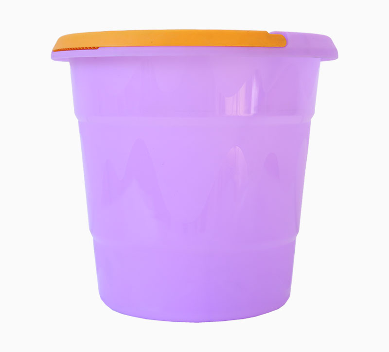 Purple 15 Litre Household Appliance HDPE Plastic Trash Can Mould