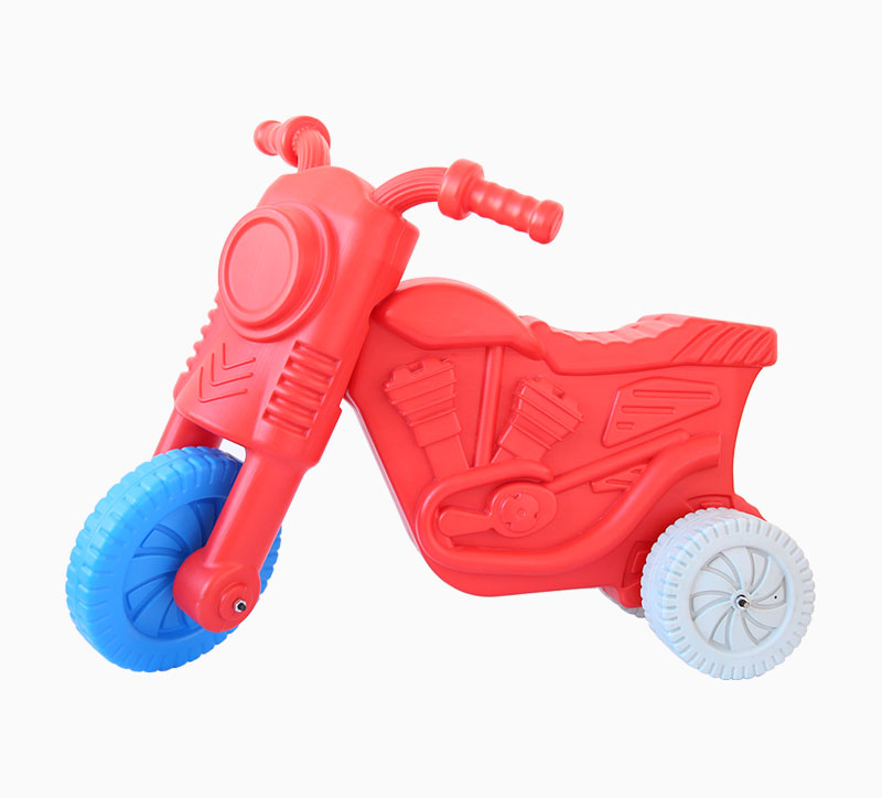 Children'S Toy Motorcycle Blowing Mould red
