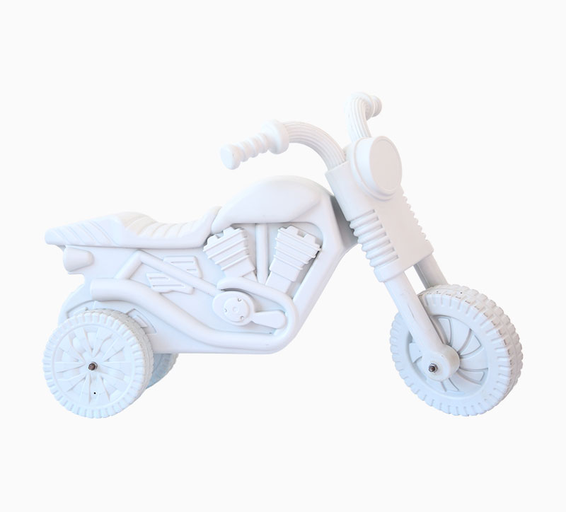 Children'S Toy Motorcycle Blowing Mould white